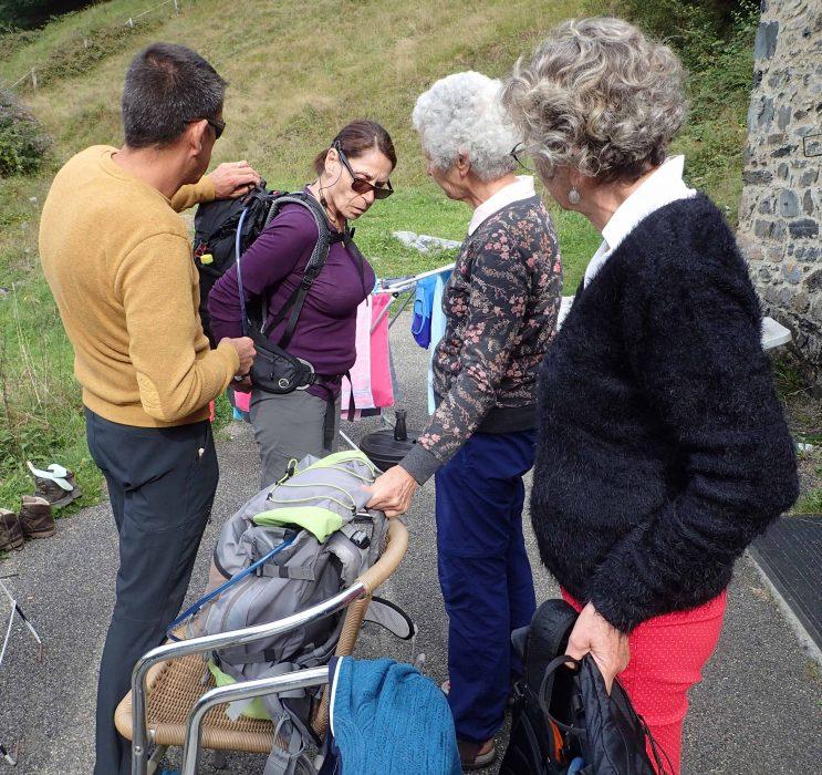Le réglage du sac à dos
