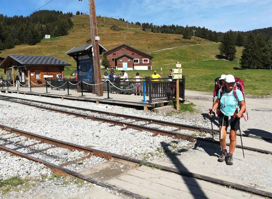 Gare du tramway au col de Voza