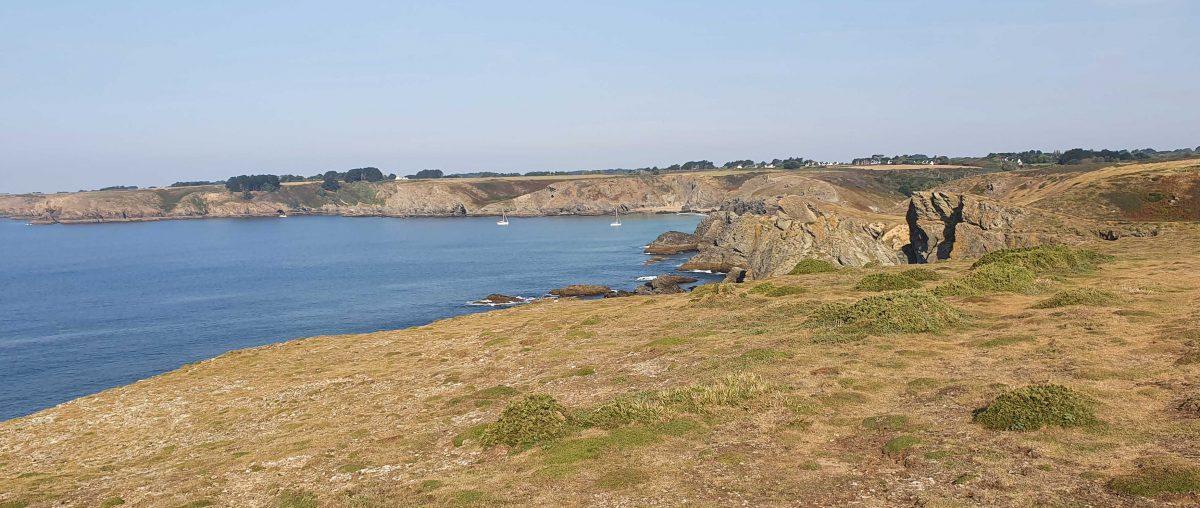 Vue de la côte que nous venons de longer